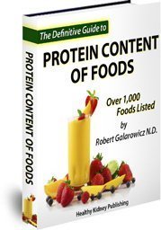 kidney diet protein content book