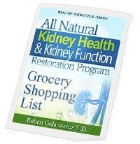 kidney diet grocery list
