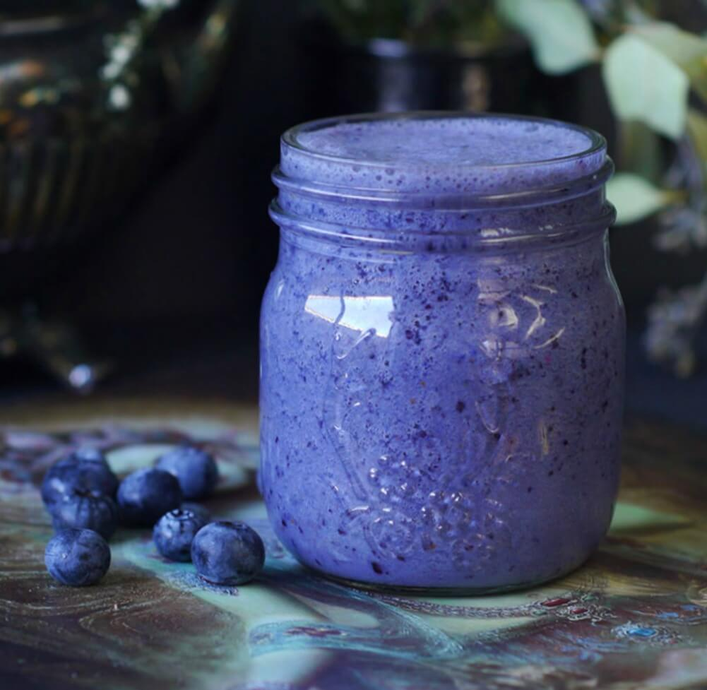 The Blueberries In This Smoothie Are Soothing To Kidneys And HBP